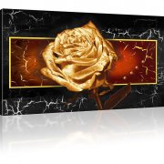 Goldene Rose Wandbilder auf Leinwand