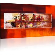 Abstraktion Chaos Kunstdruck 1-Teilig: 100x55 cm | Orange
