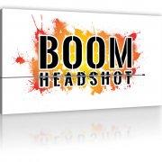 BOOM Headshot - Gamer Wandbild