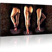 Sexy Hinter Strümpfe Erotik Beine Wandbild