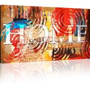 Home Abstraktes Wandbild 1-Teilig: 100x55 cm | Mehrfarbig