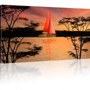 Segelschiff Einmaster Bild auf Leinwand