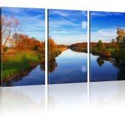Landschaft Bild auf Leinwand 3-Teilig: 165x100 cm   Mehrfarbig