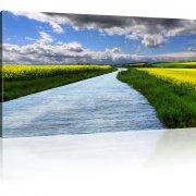 Landschaft mit Fluss Wandbild
