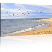 Strand Leinwandbild 1-Teilig: 120x70 cm | Mehrfarbig