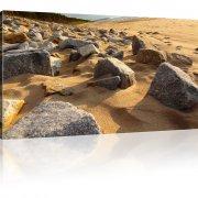 Steine am Strand Landschaft Leinwanddruck