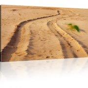 Sand Weg Wandbild auf Leinwand