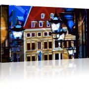 Straßenlaternen in der Altstadt als Kunstdruck