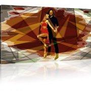 Tanzpaar Abstrakt