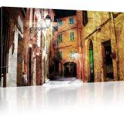Altstadt am Abend als Kunstdruck