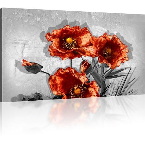 Blumen Mohnblumen Leinwandbild