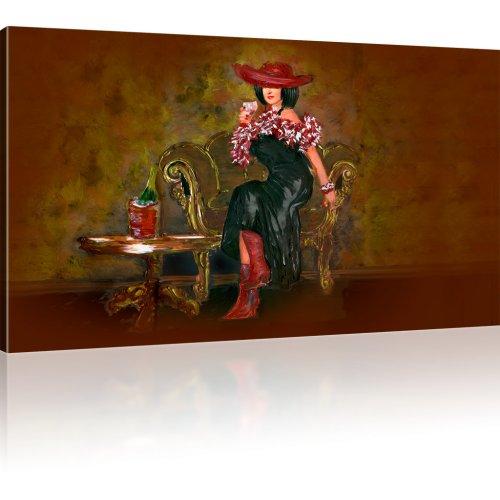 Frau mit einem Glass Wein
