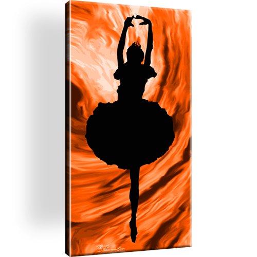 Frau Ballet Tanz Leinwandbild