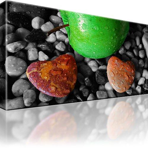 Herz Steine Liebe Apfel Wandbild