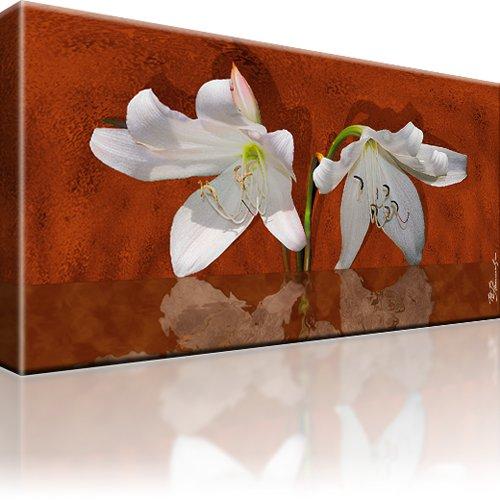 Lilie Blume Wandbild auf Leinwand