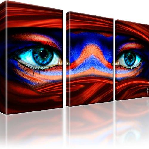 Tuareg Augen Wandbild 3-Teilig: 105x60 cm