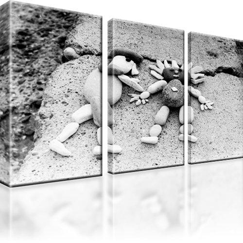 Menschen Steine Liebe Wandbild 3-Teilig: 165x100 cm