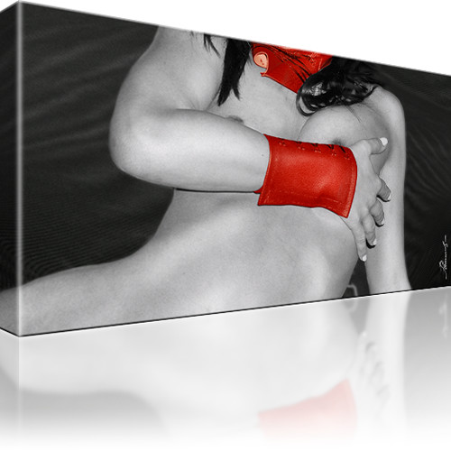 Erotik Akt Frau Bild auf Leinwand 1-Teilig: 60x35 cm