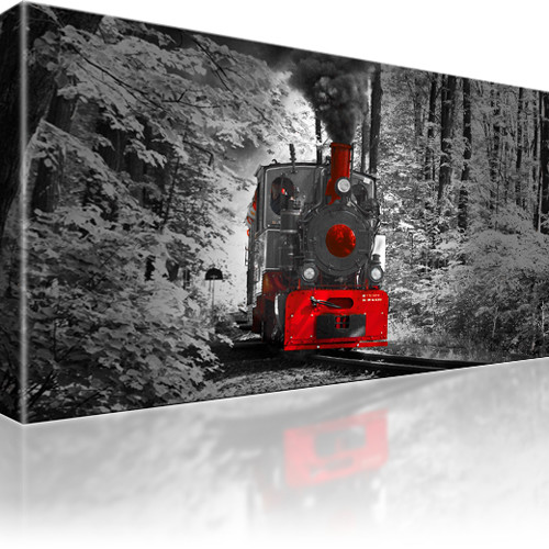 Dampflokomotive Zug Wandbild auf Leinwand