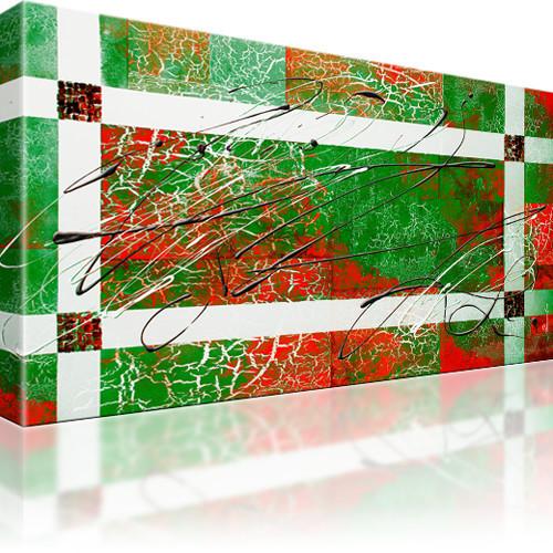 Abstrakt Wandbild 1-Teilig: 100x55 cm | Grün