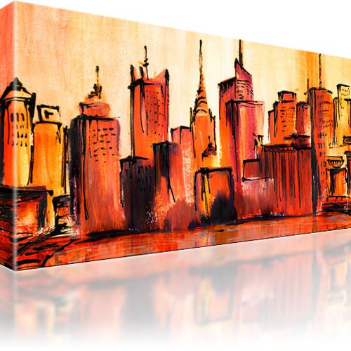 manhattan skyline new york stadt bild auf leinwand. Black Bedroom Furniture Sets. Home Design Ideas