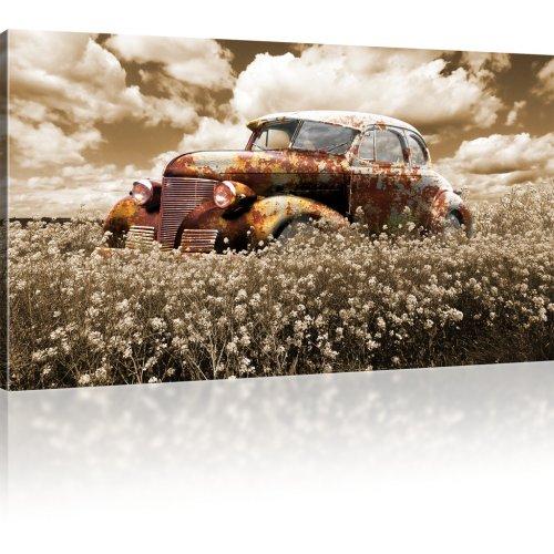 Rostiger Oldtimer Wandbild 1-Teilig: 100x55 cm   Sepia