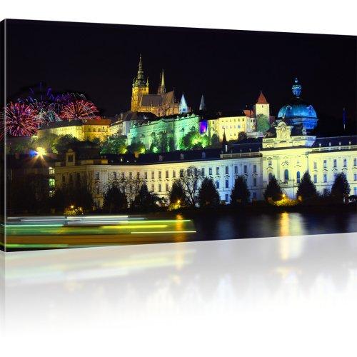 Prag bei Nacht Bild auf Leinwand