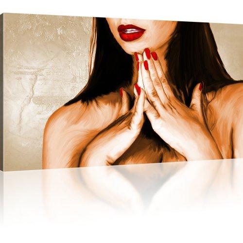 Sexy Lippen einer Frau Leinwanddruck