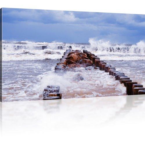 Wellenbrecher Bild auf Leinwand