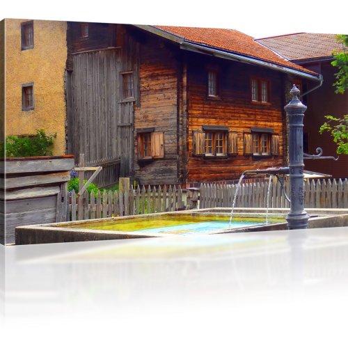 Altes Holzhaus als Kunstdruck