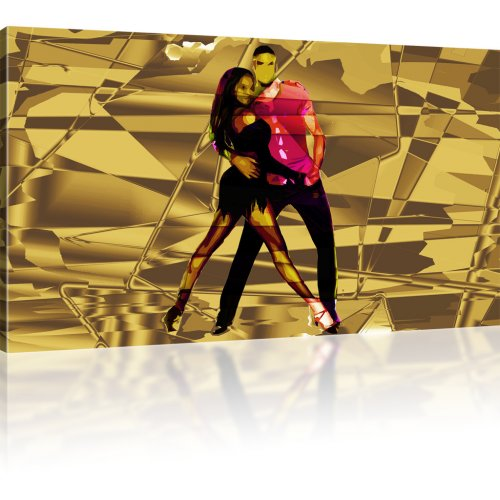 Tanzpaar Abstrakt als Kunstdruck
