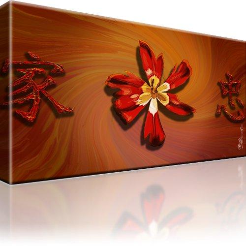 Blume Mohn Abstrakt Wandbild auf Leinwand