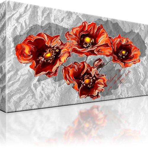 Mohn Blume Wandbild auf Leinwand