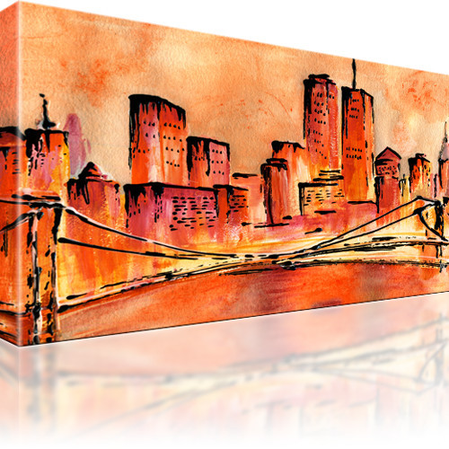 Golden Bridge New York Manhattan Wandbild