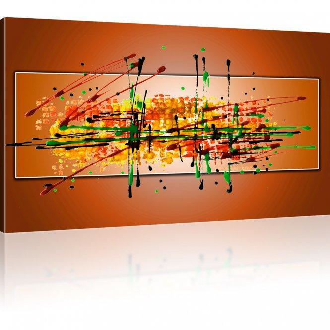 Farbige Abstraktion Wandbild