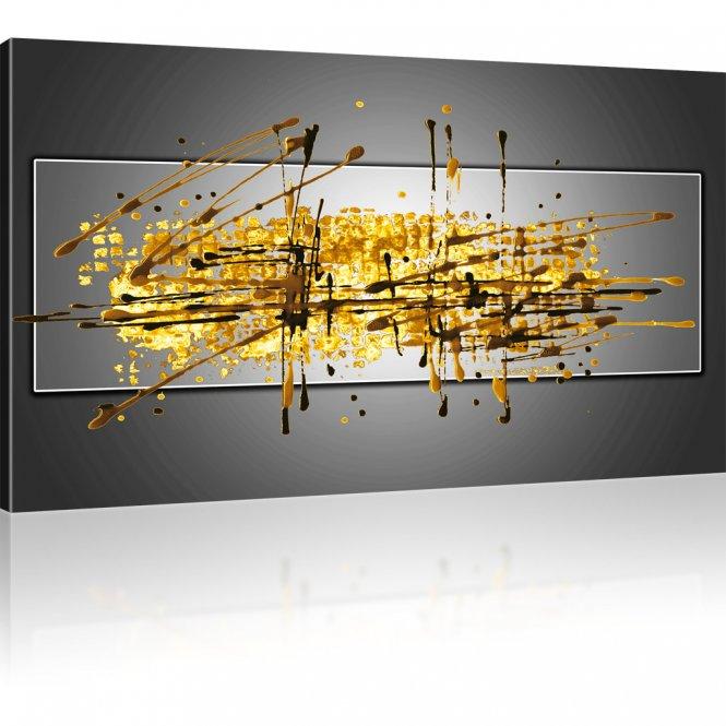 Farbige Abstraktion Wandbild 1-Teilig: 100x55 cm | Grau