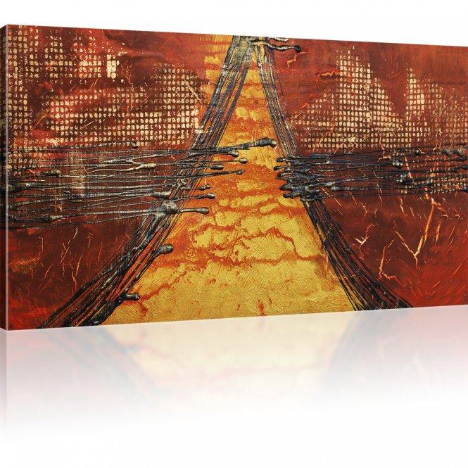 Abstrakte Pyramide Kunstdruck