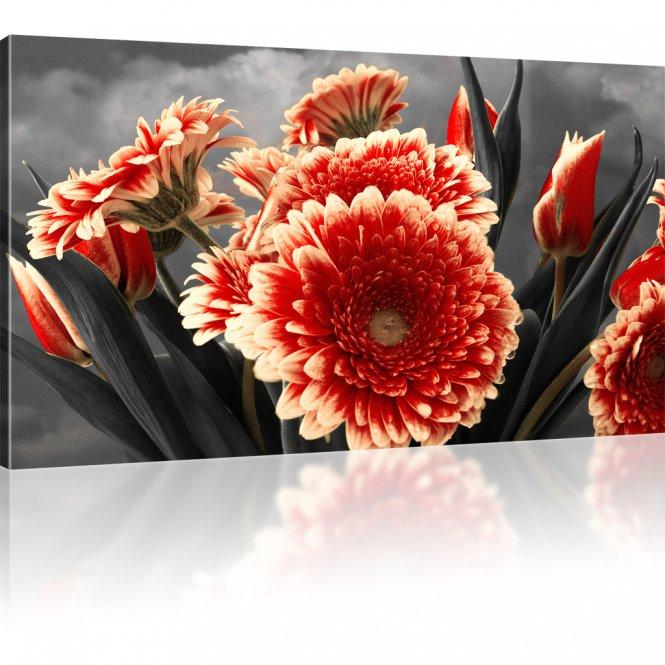 Gerbera Blumen Leinwandbild