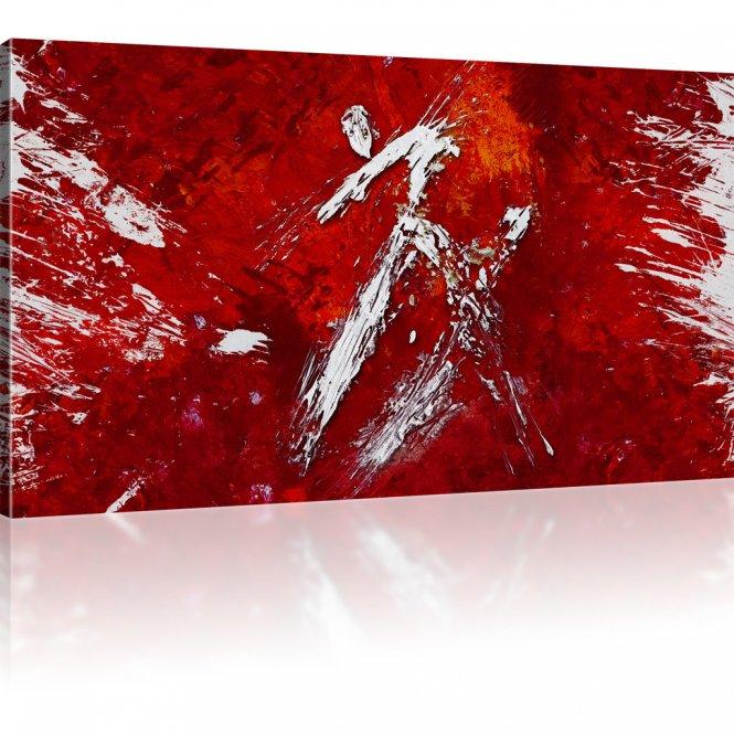 Abstrakte Kunst Bild auf Leinwand