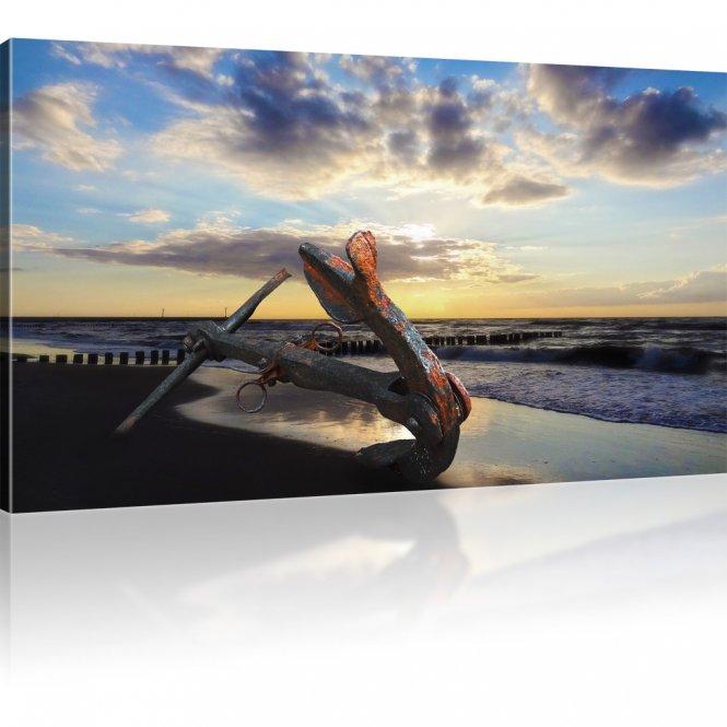 Anker am Strand als Wandbild