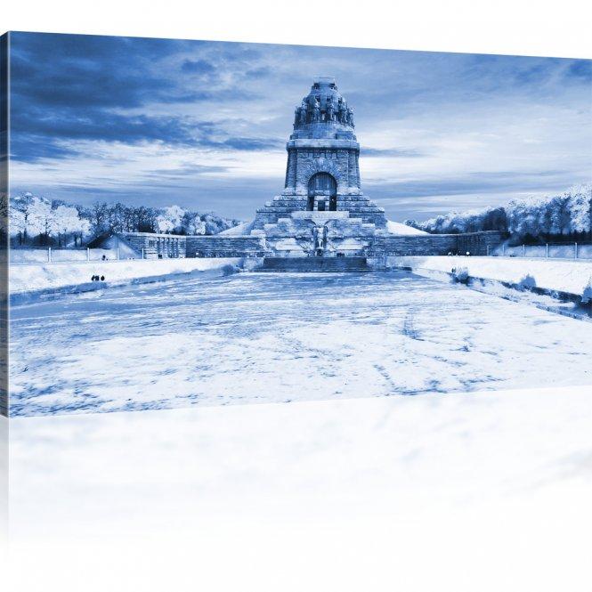Völkerschlachtdenkmal im Winter als Wandbild