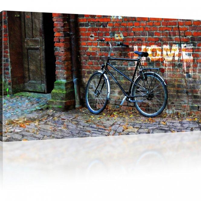 Fahrrad als Kunstdruck