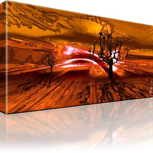 baum horizont abstrakt wandbild. Black Bedroom Furniture Sets. Home Design Ideas
