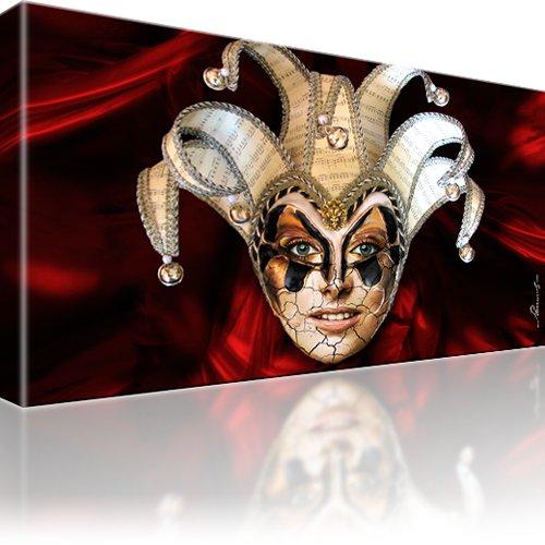 joker maske abstrakt bild auf leinwand